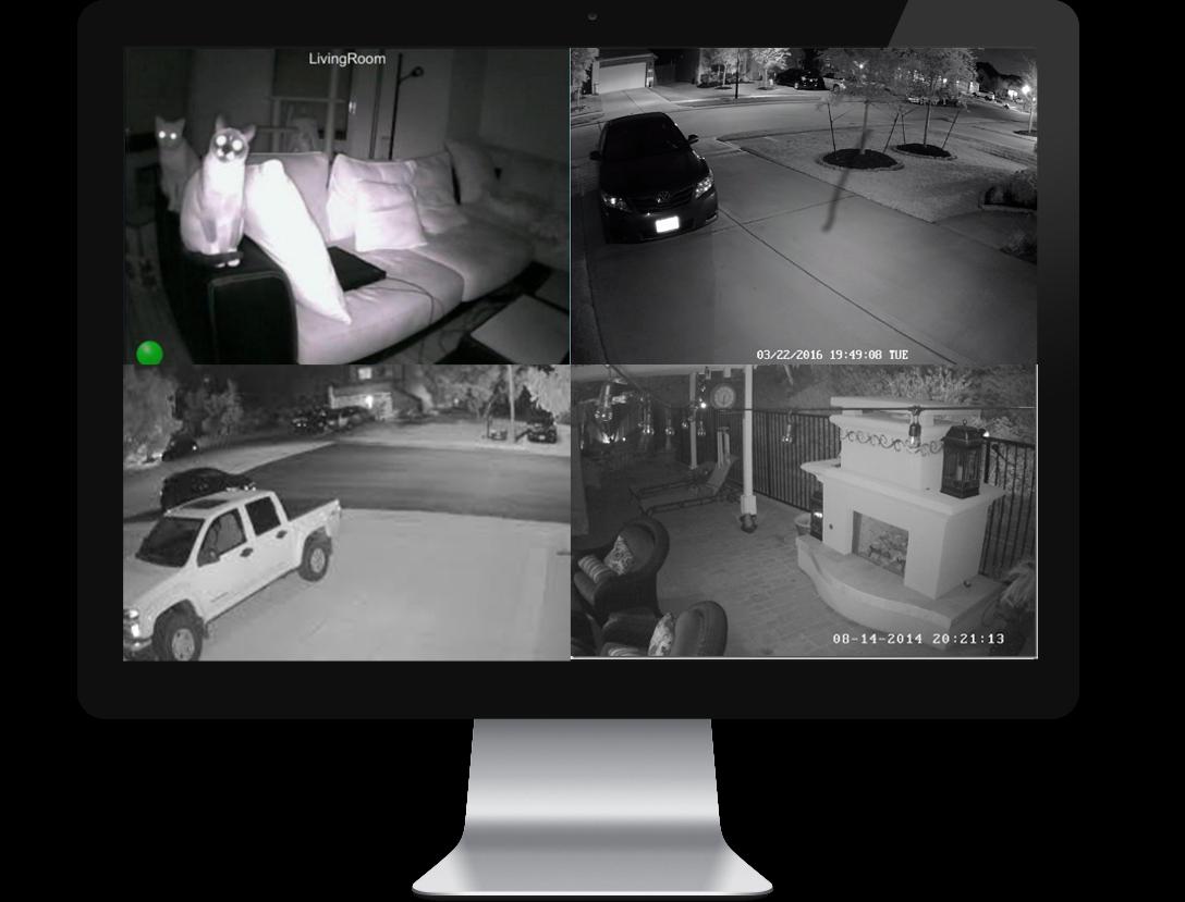 éjszakai biztonsági kamerarendszer