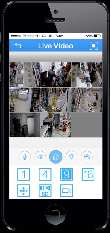 Biztonsági kamera iphone app