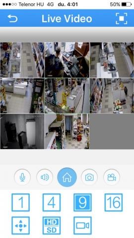 Kamera mobilos megfigyelés