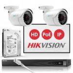 hikvision IP POE kamera szett
