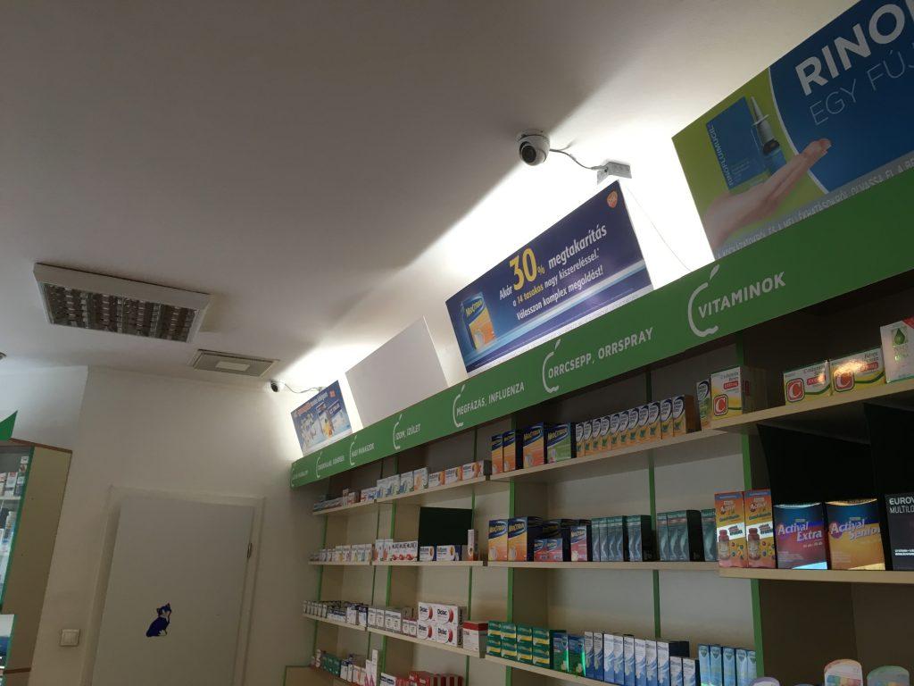 Kamera gyógyszertárban