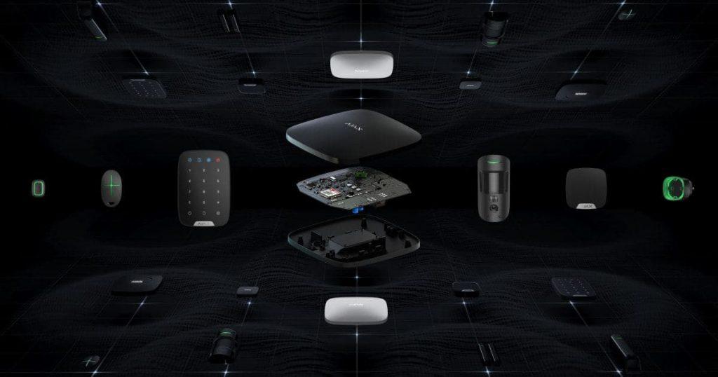 Fekete Ajax vezeték nélküli riasztó rendszer eszközök